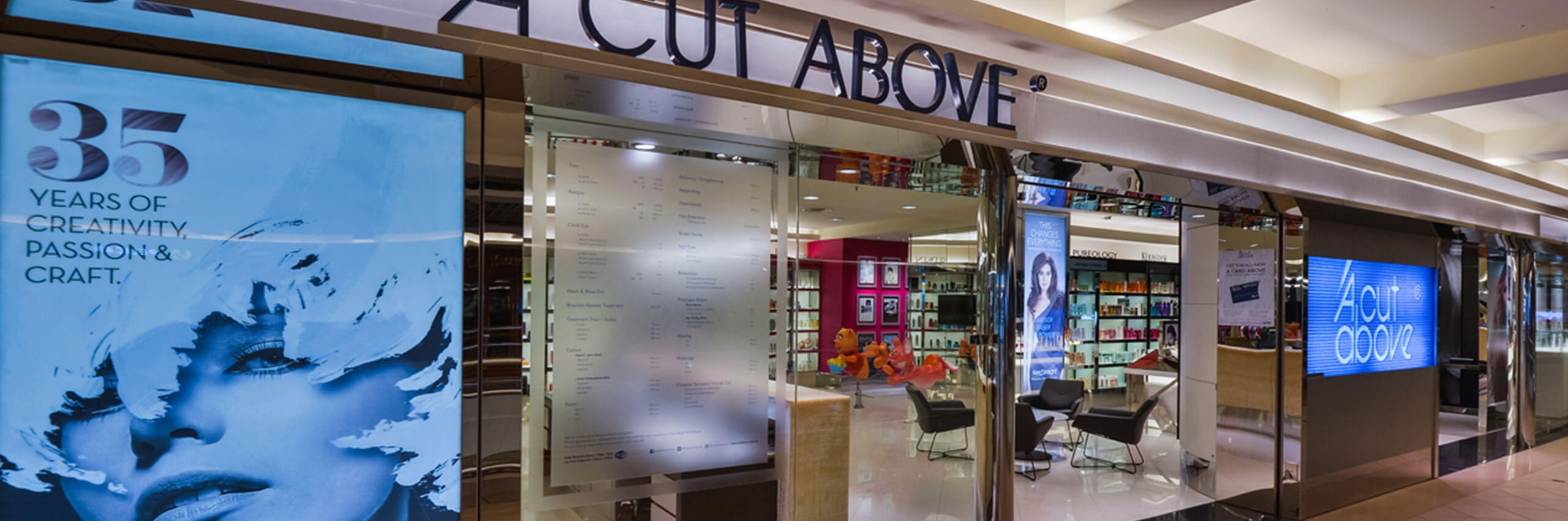 Contact for a cut above hair salon malaysia a cut above for A cut above beauty salon