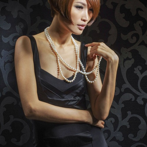 Model with short trendy hair look