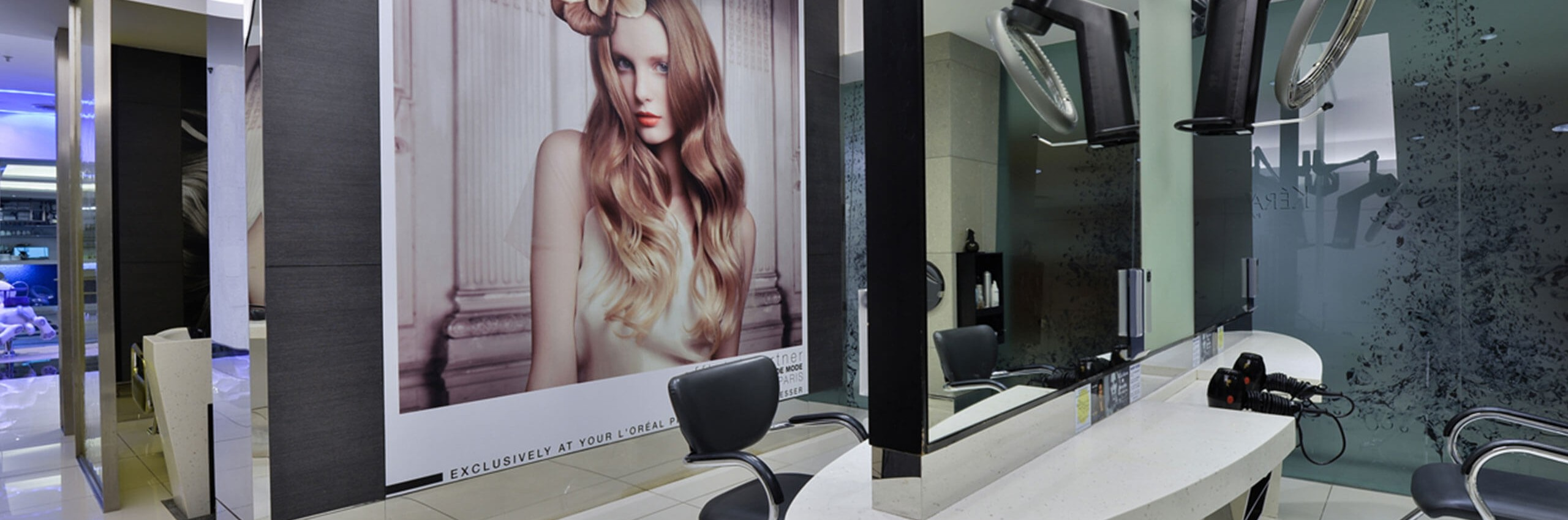 A Cut Above salon in Bangsar Shopping Centre interior